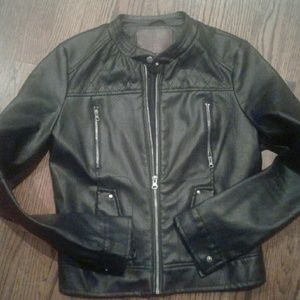 Miss London Blk leather jacket S